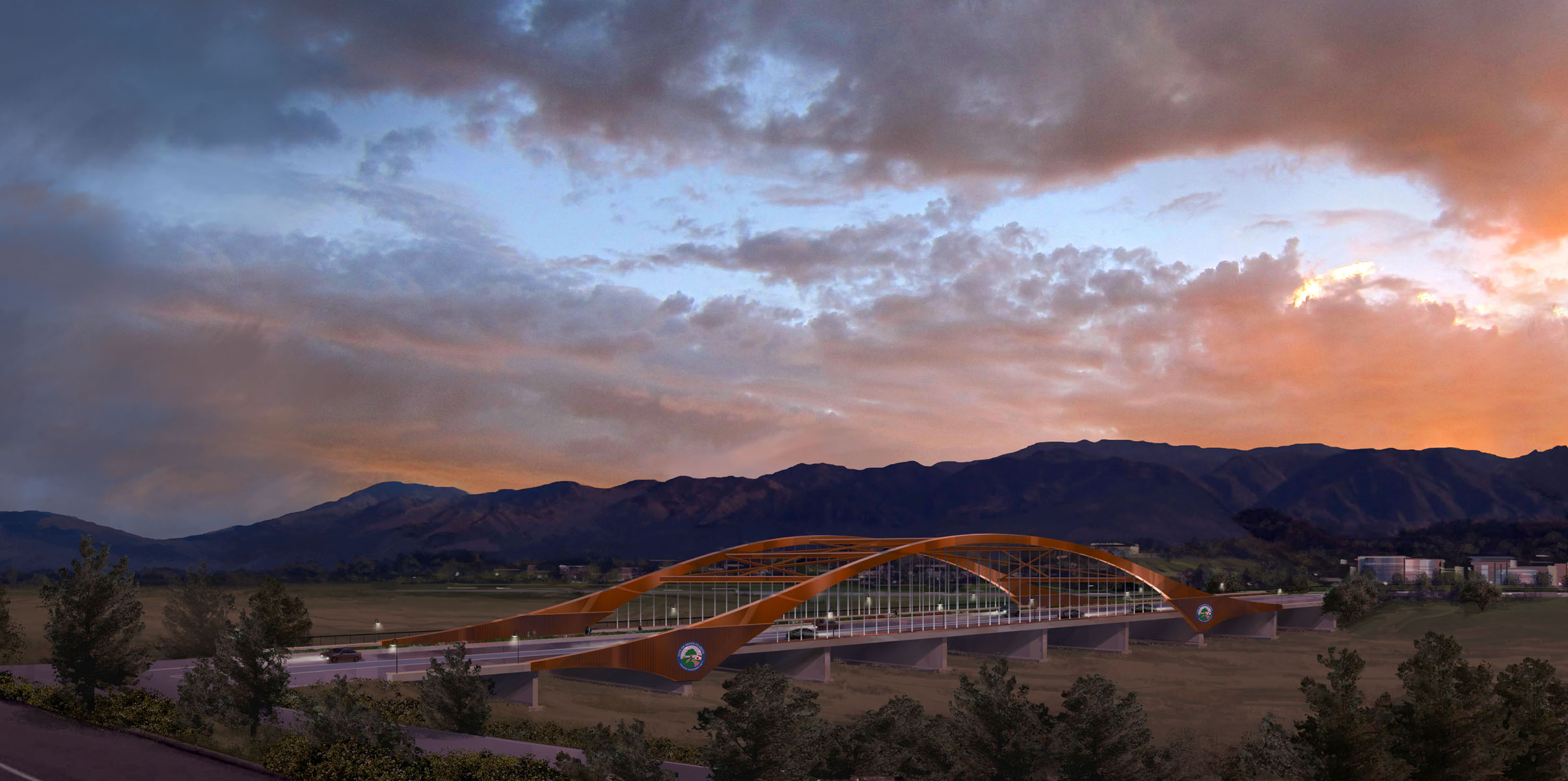 Conceptual illustration Vista Canyon Bridge Santa Clarita, CA