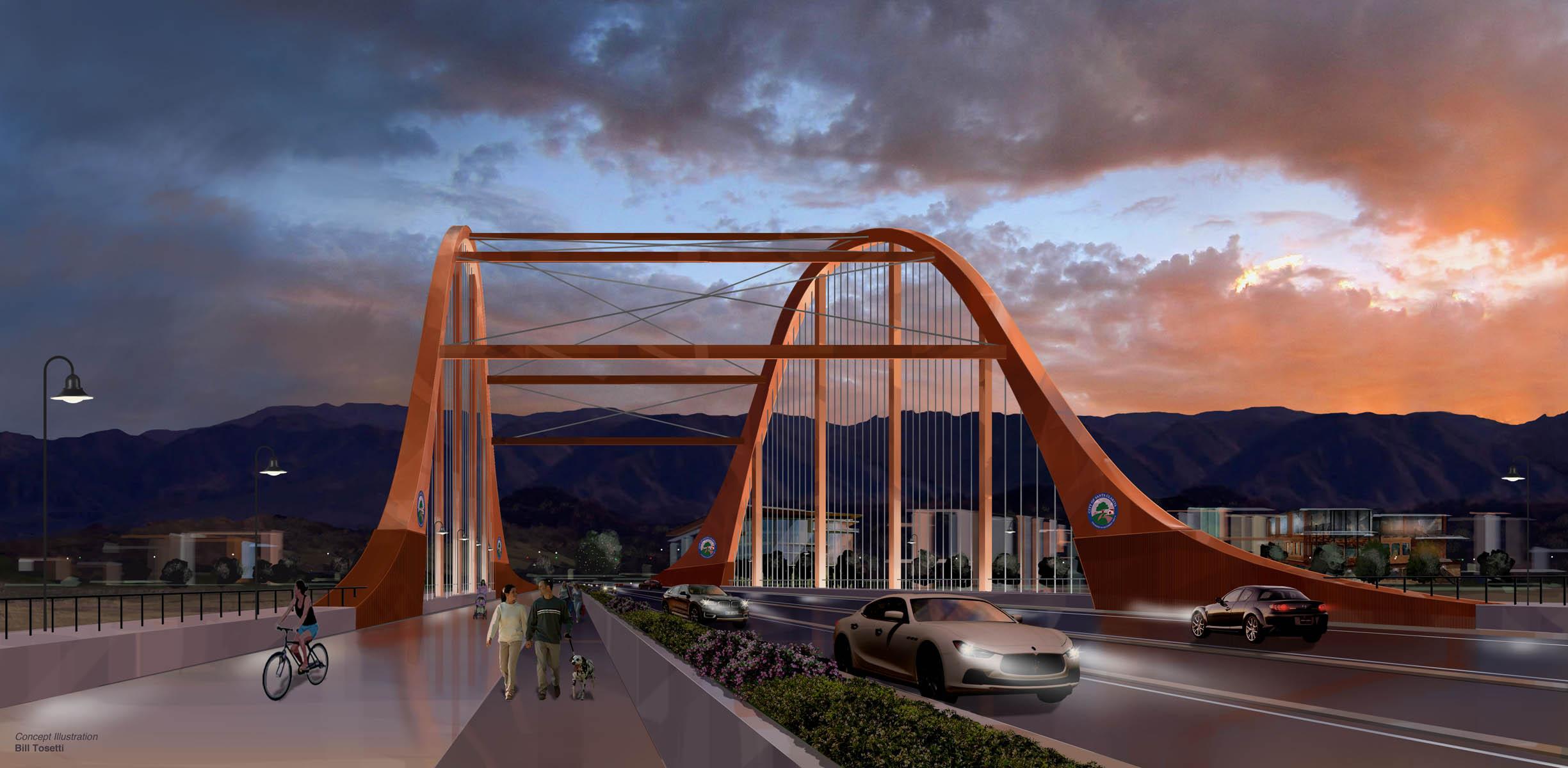 Conceptual illustration Vista Canyon Bridge Santa Clarita, CA
