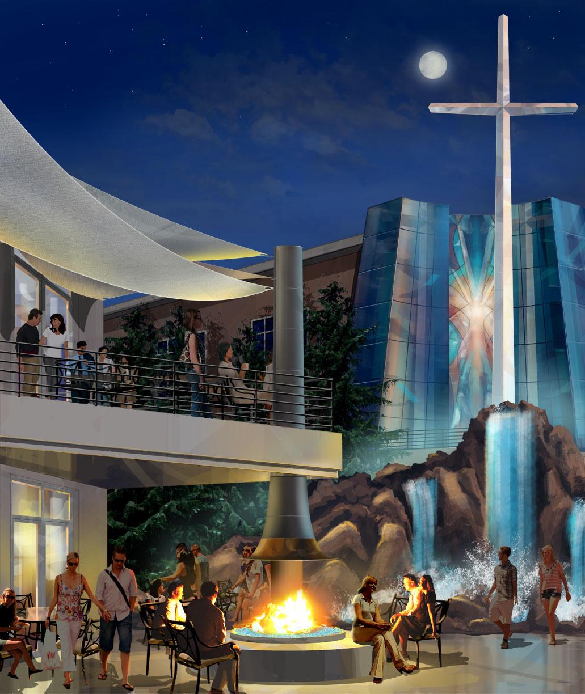 Conceptual illustration NorthPark Community Church Valencia, CA