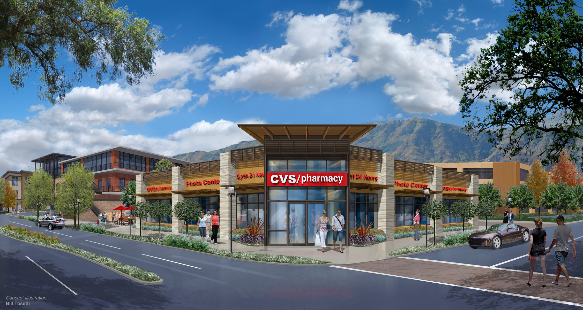 Conceptual illustration Vista Canyon CVS Santa Clarita, CA