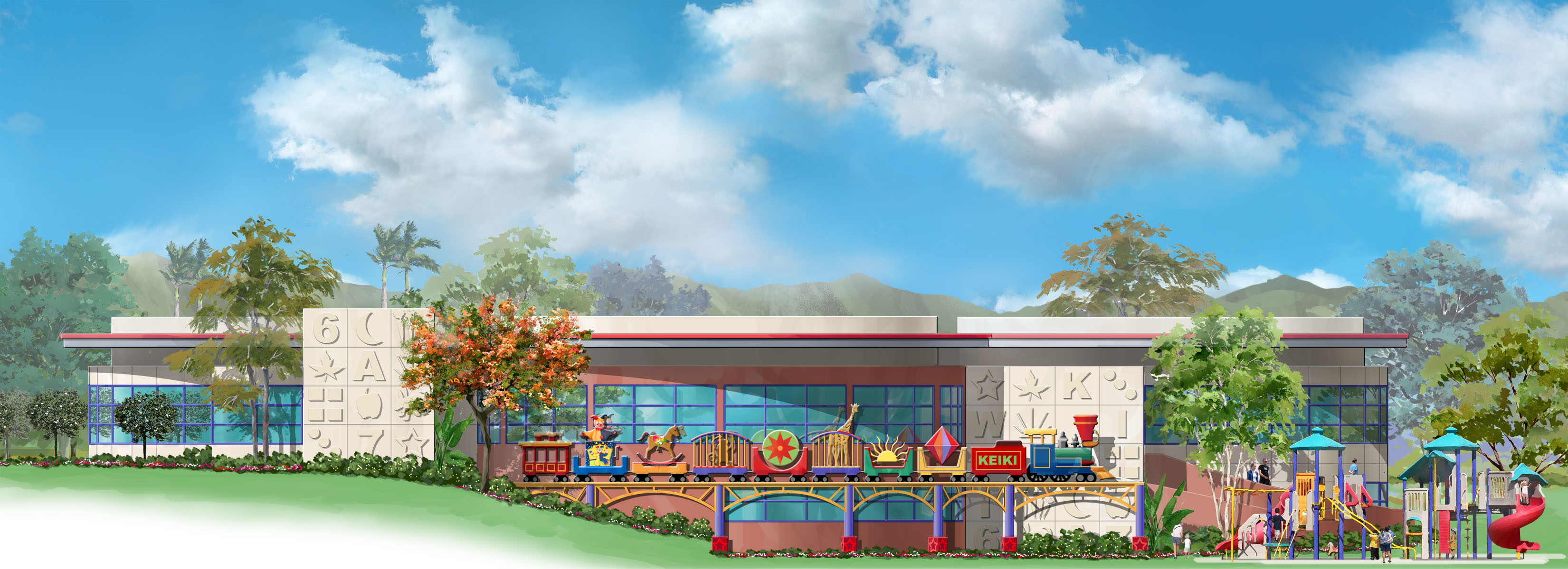 Conceptual illustration Child Development Center Koa Ridge, HI