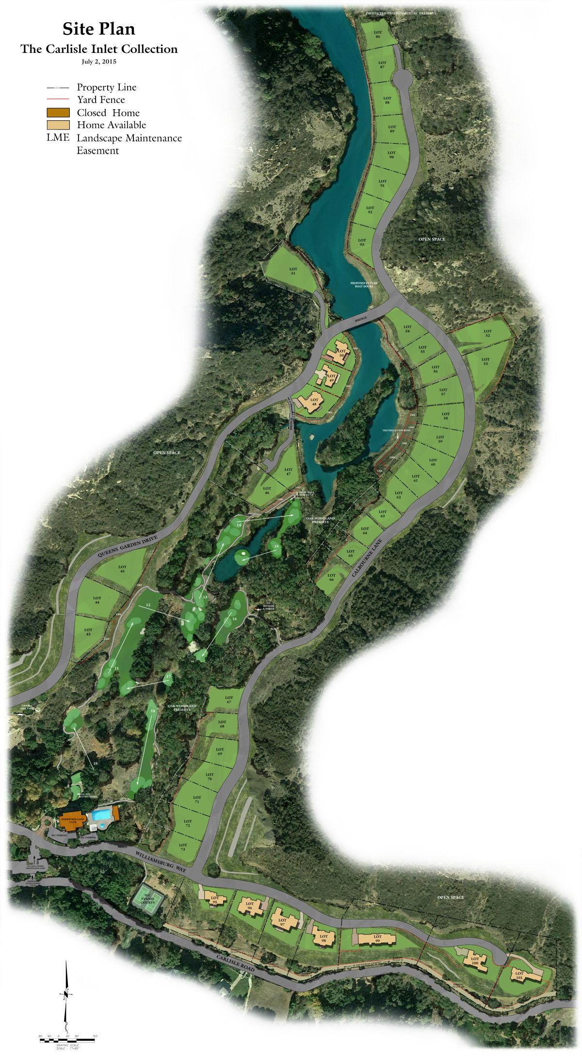 Carlisle Inlet Collection Site Plan Lake Sherwood, CA