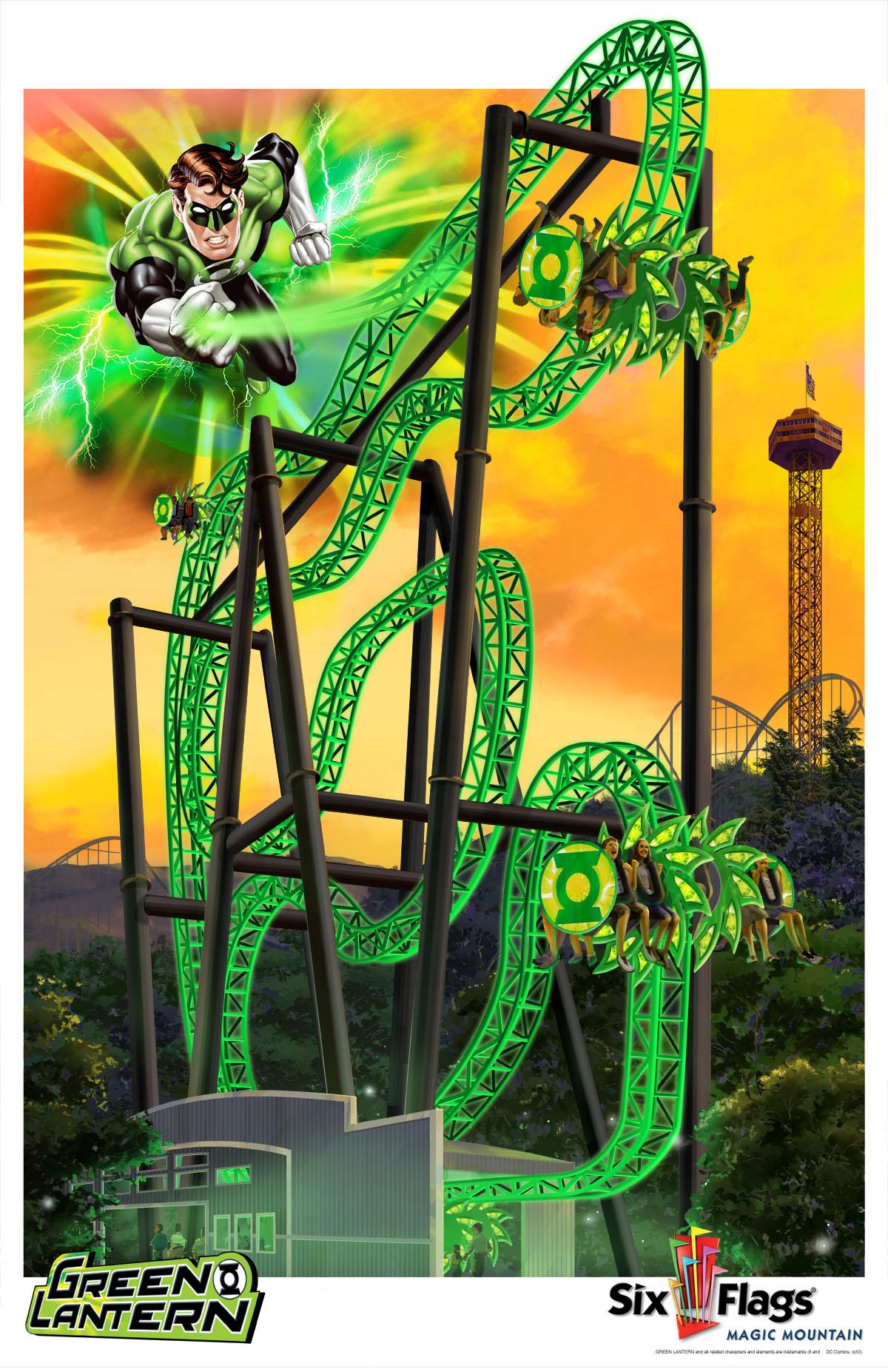 Green Lantern, Six Flags Magic Mountain Valencia, CA