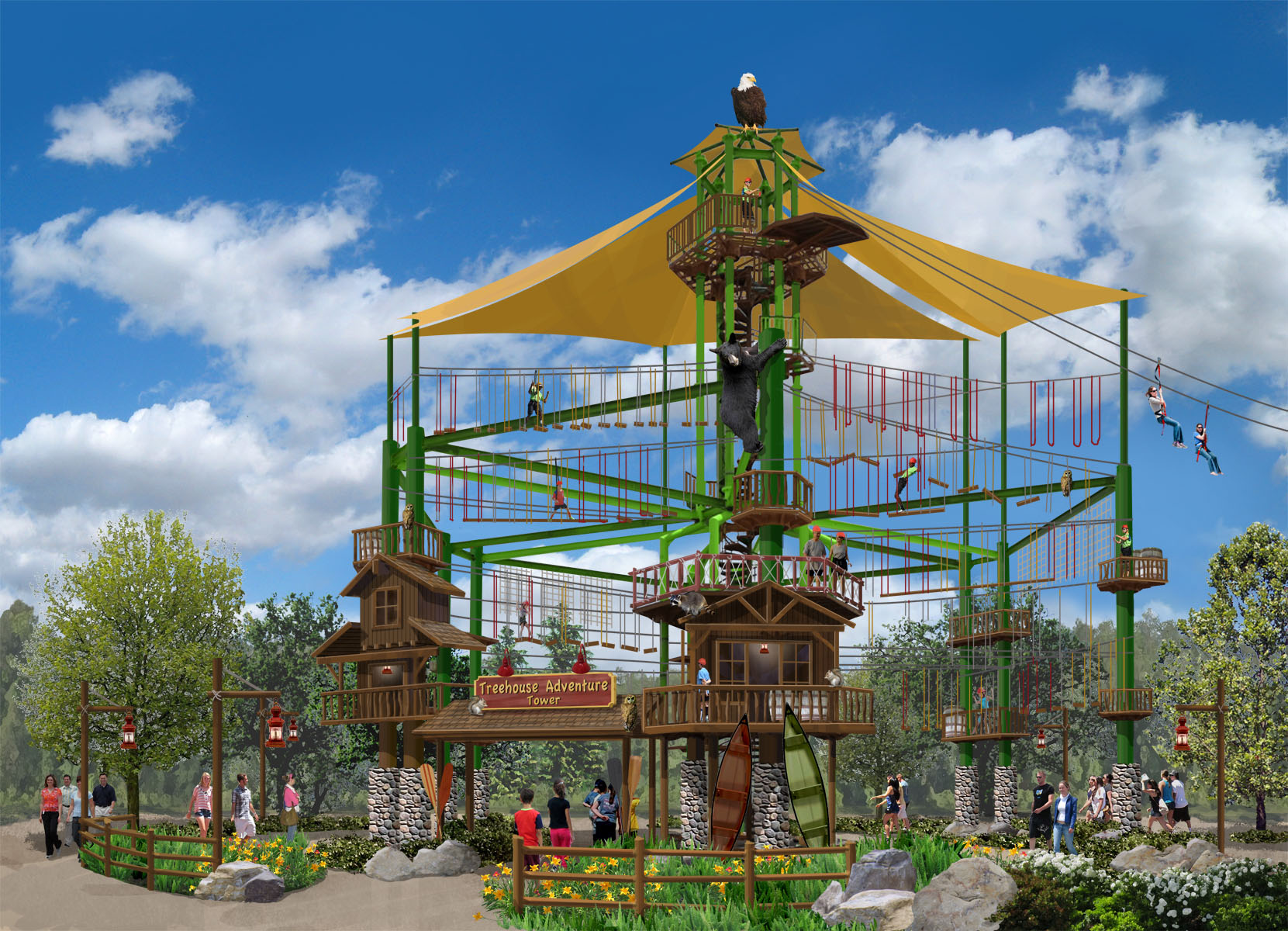 Treehouse Adventure Tower R&R Creative Amusement Designs Anaheim, CA