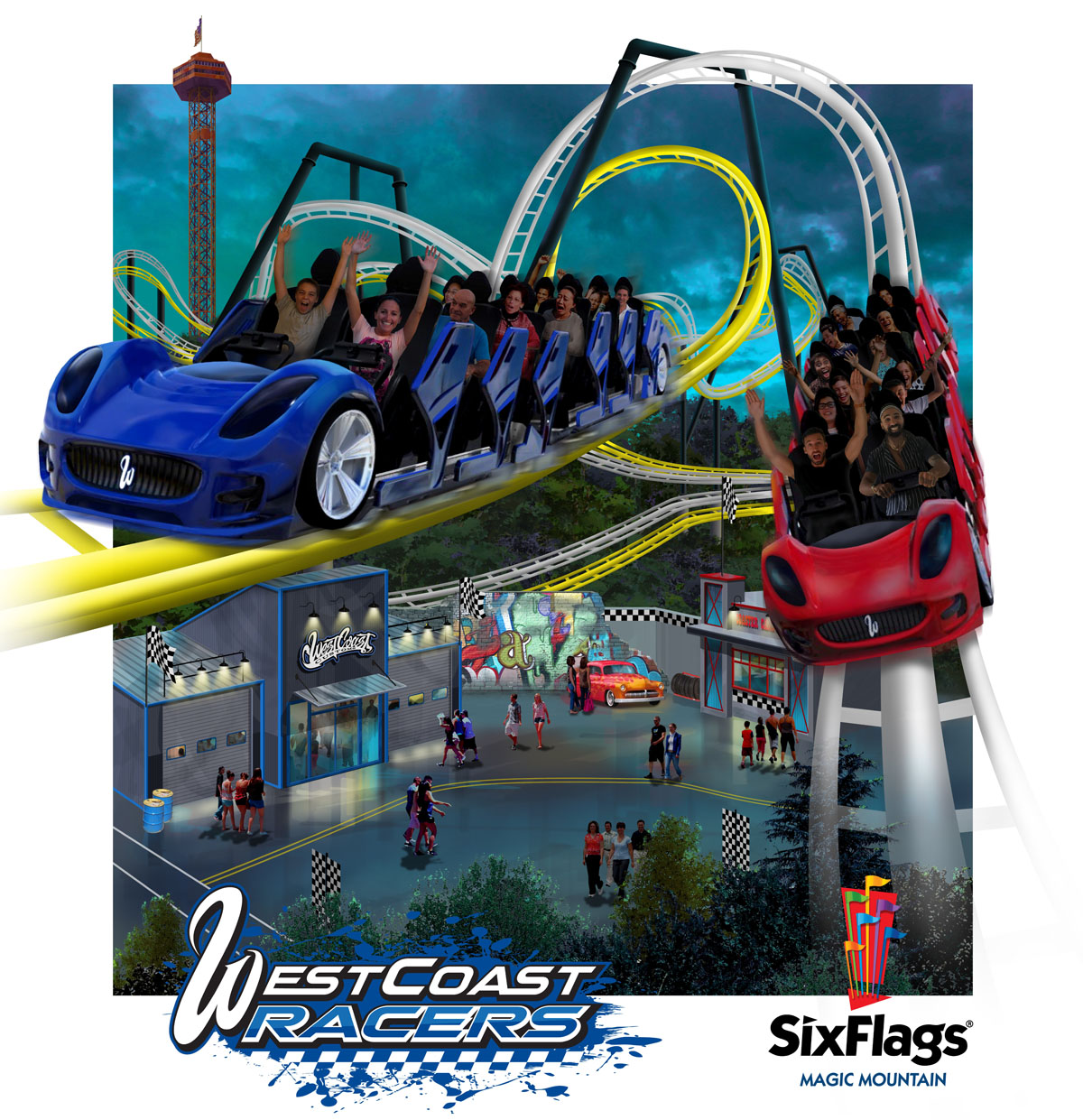 WestCoast Racers, Six Flags Magic Mountain Valencia CA