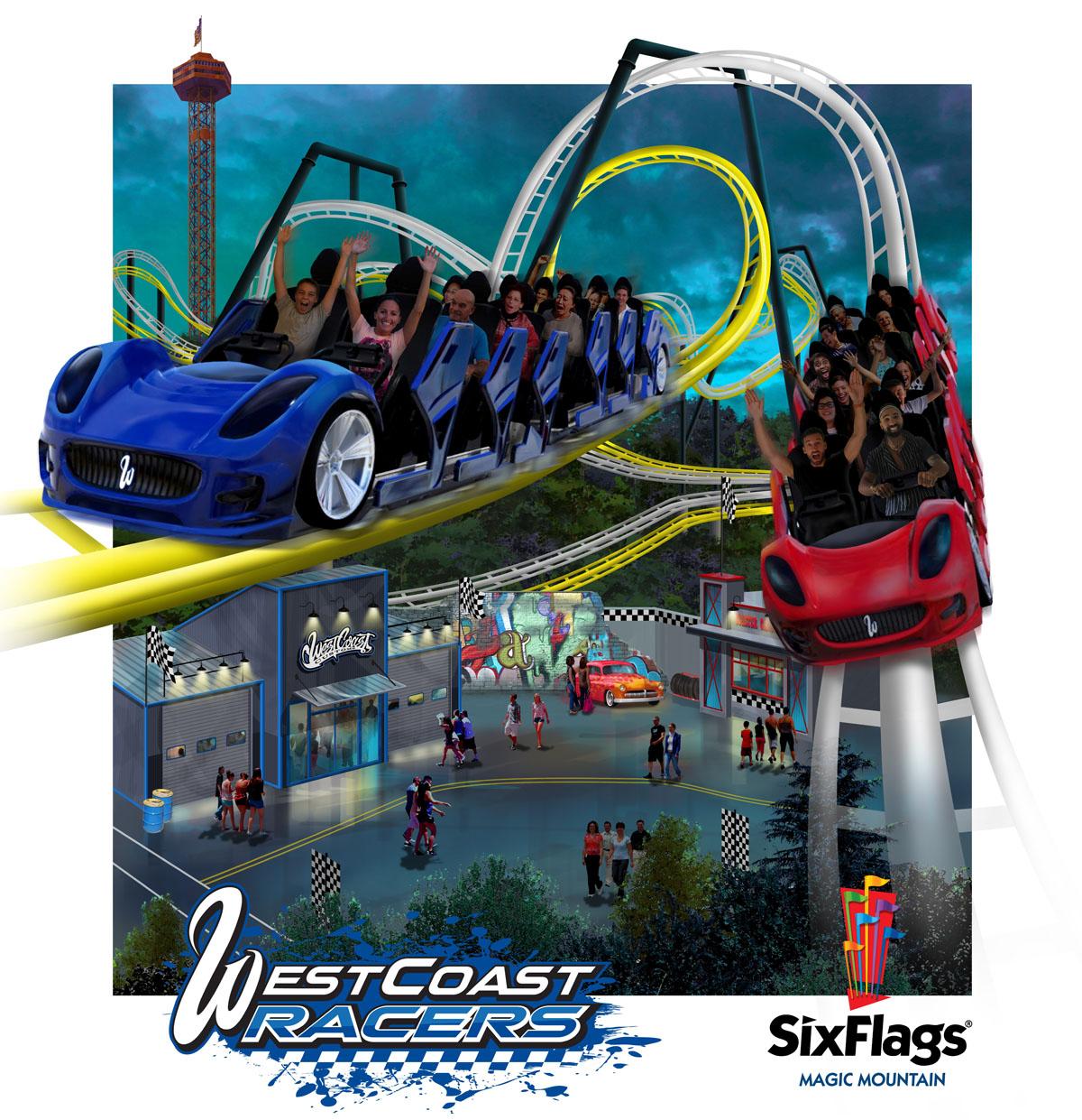 WestCoast Racers, Six Flags Magic Mountain Valencia CA